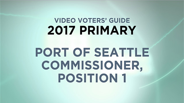 Port of Seattle, Commissioner Position 1