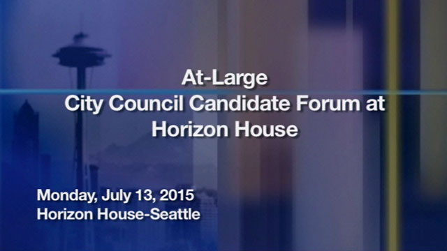 At-large City Council candidate forum at Horizon House District 9