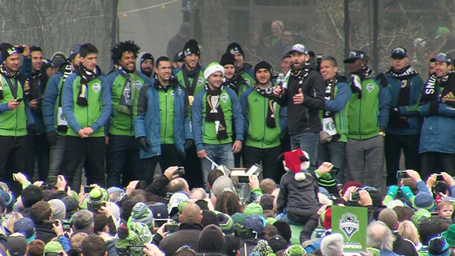 Seattle Sounders FC 2016 MLS Cup rally