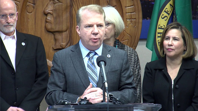 Mayor Murray speaks on oncoming storm, homelessness