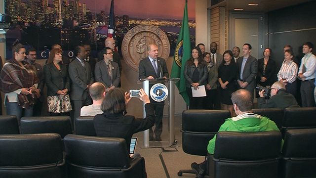 Mayor Murray addresses the press regarding election results