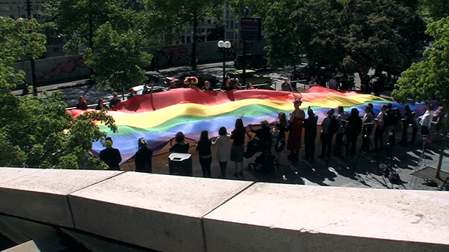 5th Annual Pride Flag Raising event at Seattle City Hall