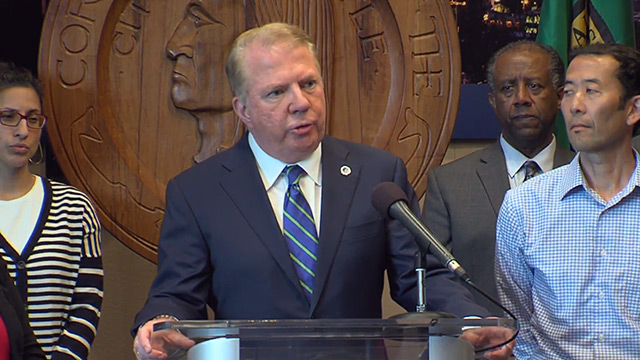 Mayor Murray delivers statement after accuser drops lawsuit