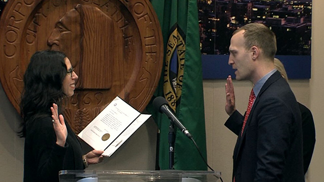 Andrew Meyerberg swearing-in as Director of the Office of Police Accountability