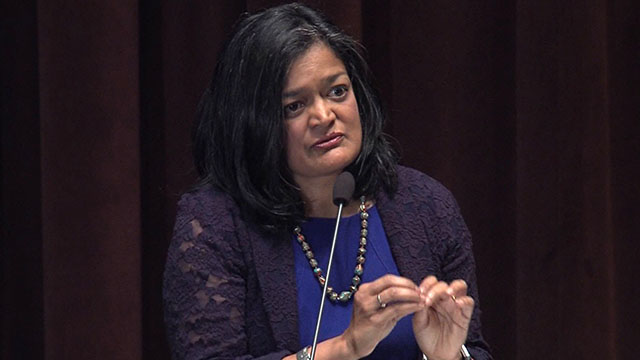 Rep. Jayapal hosts Seattle town hall