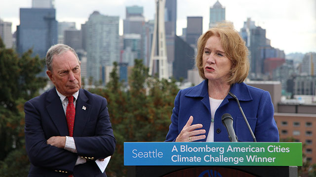 Michael Bloomberg names Seattle winner of American Cities Climate Challenge