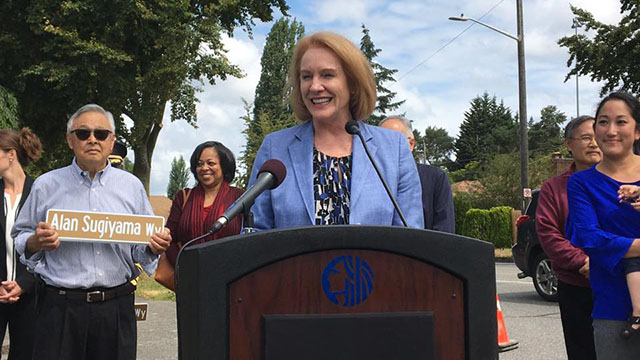 Mayor Durkan unveils Alan Sugiyama Way on Beacon Hill