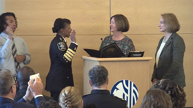 Carmen Best is Sworn In across Seattle to Lead the Seattle Police Department