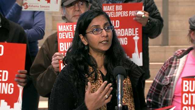 Councilmember Sawant announces plans to build affordable housing