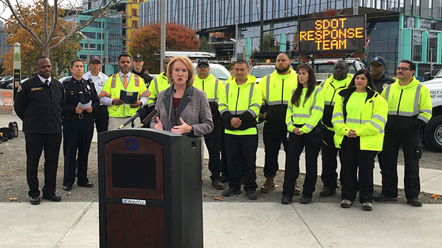 Mayor, SDOT launch Seattle's new traffic incident 'Response Team'