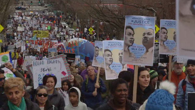 Thousands honor MLK in annual march