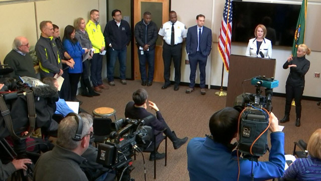 Mayor Durkan, Cabinet Members Hold Media Availability at Seattle's Emergency Operations Center