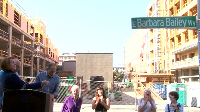 Mayor Durkan joins community to unveil E. Barbara Bailey Way