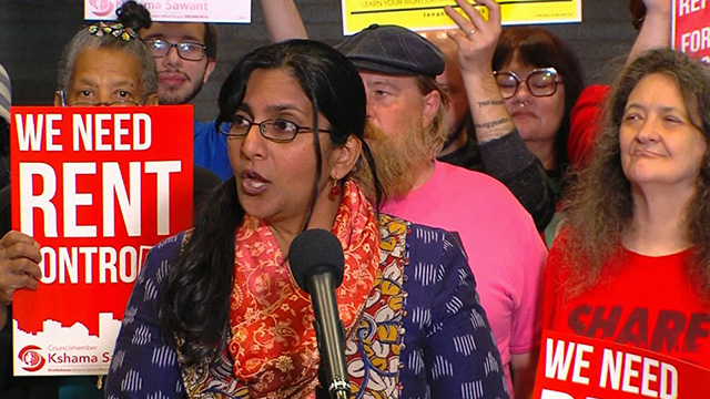 "Councilmember Sawant & rent control advocates demand ""People's Budget"""