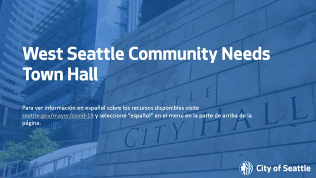 West Seattle Virtual Community Town Hall