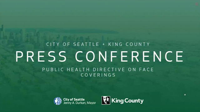 King Co. residents directed to wear face coverings in certain settings