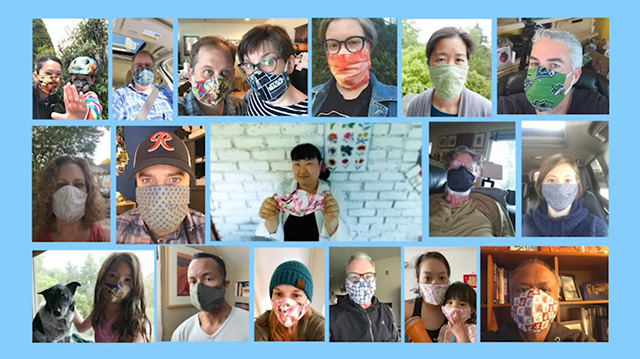 Stitching community through homemade masks