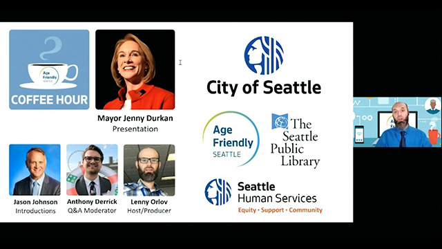 Town Square: Age Friendly Seattle Civic Coffee Hour with Mayor Jenny Durkan