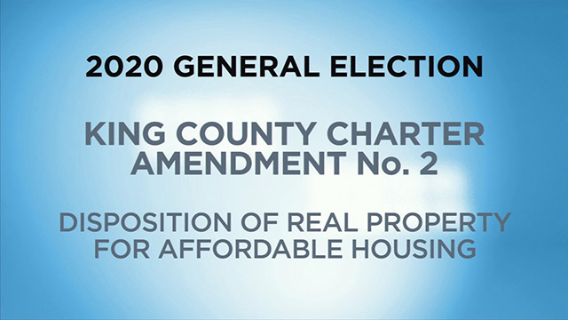 King County, Charter Amendment No. 2 - Disposition of Real Property for Affordable Housing