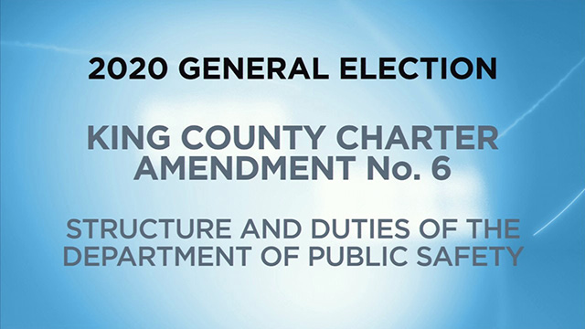 King County, Charter Amendment No. 6 - Structure and Duties of the Department of Public Safety