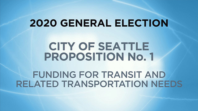 City of Seattle, Proposition No. 1 - Funding for Transit & Related Transportation Needs