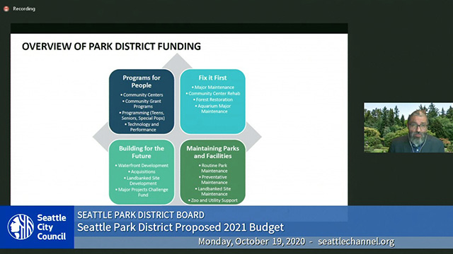 Seattle Park District Board Meeting Public Hearing 10/19/19