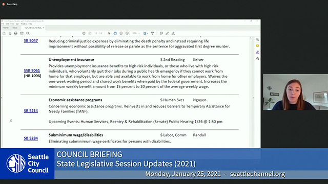 Council Briefing 1/25/21