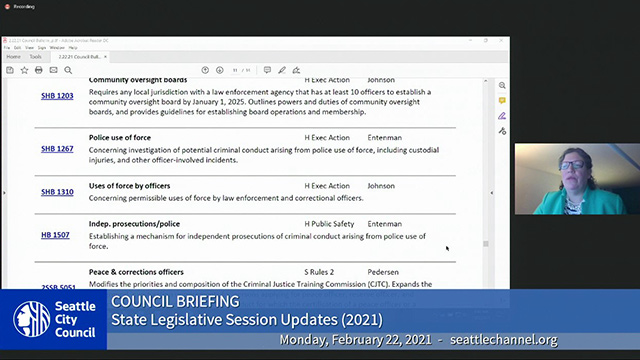 Council Briefing 2/22/21