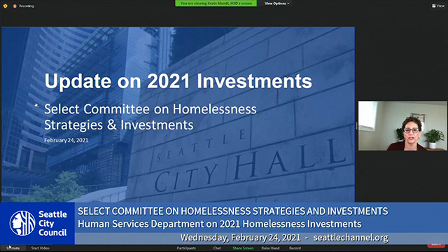 Select Committee on Homelessness Strategies & Investments 2/24/21