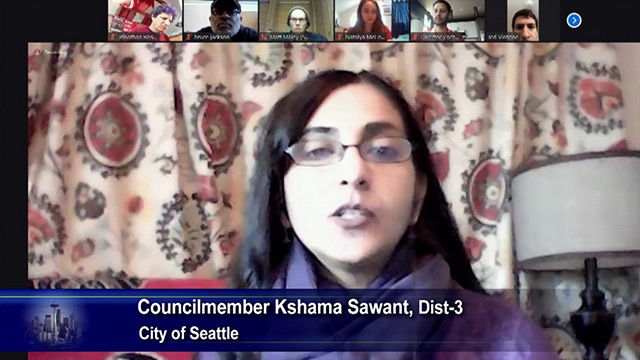 Sawant unveils legislation to prohibit evictions of school children & families